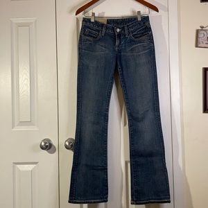 Loomstate low rise boot cut jeans